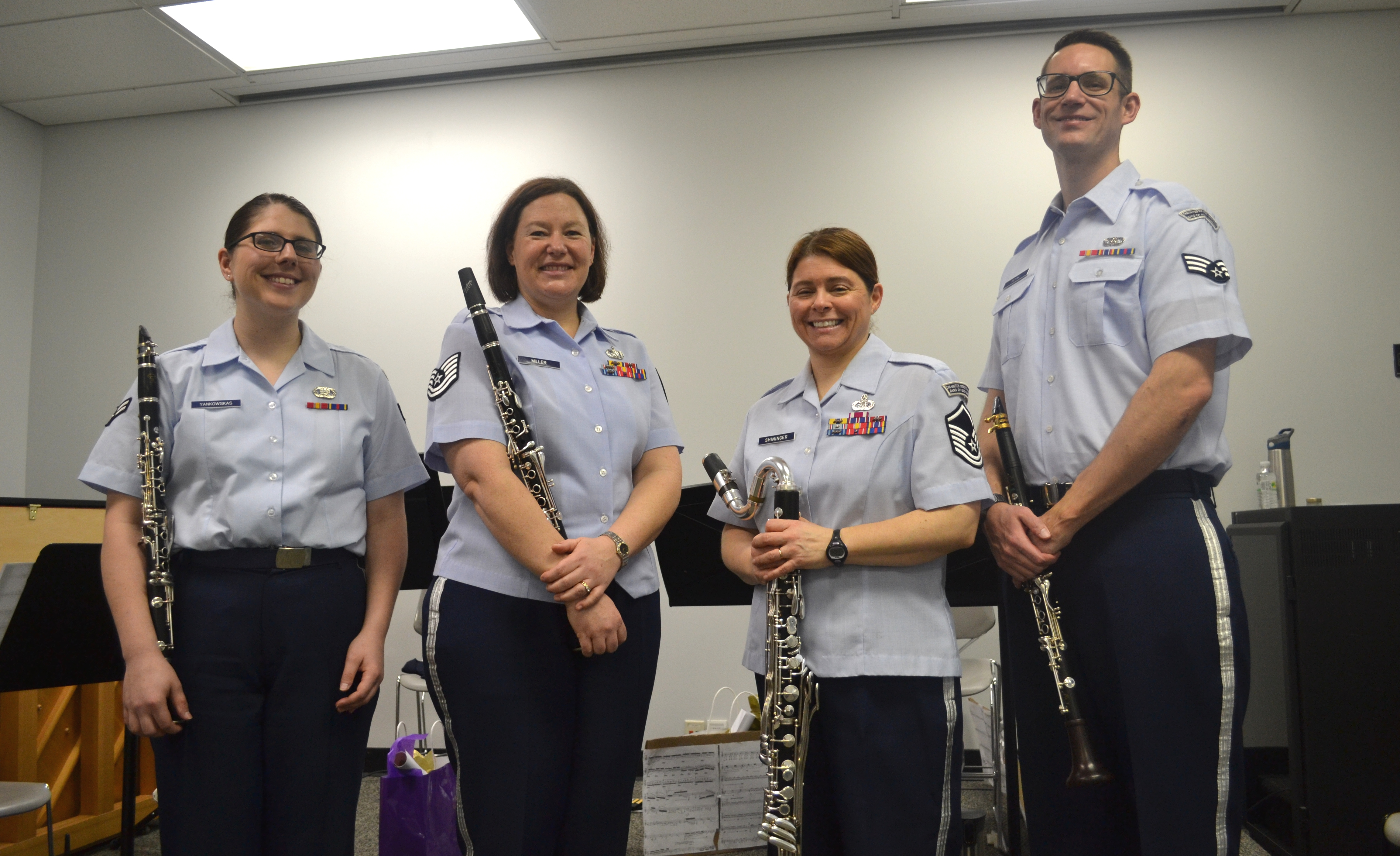 Air Force clarinet quartet performs