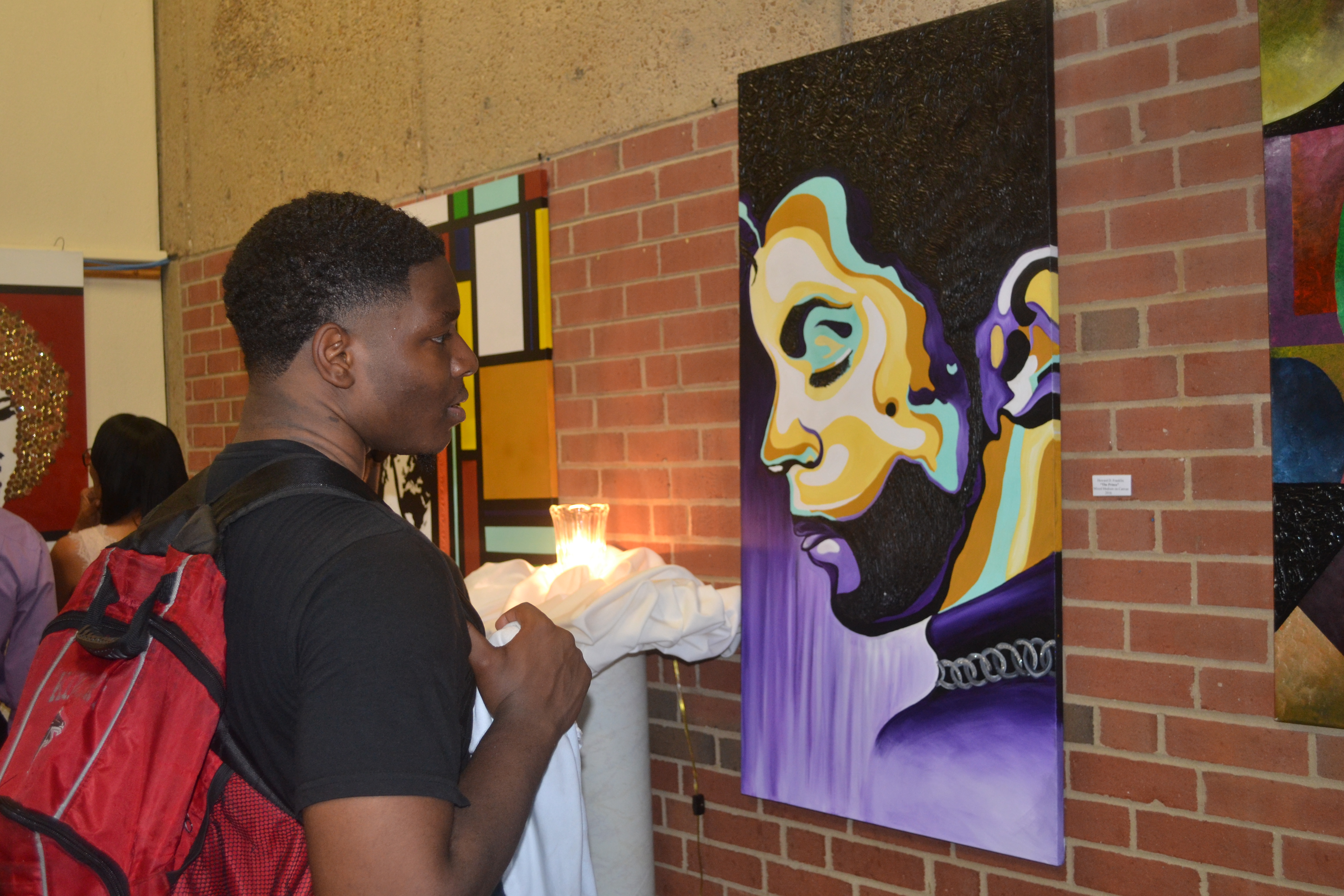 Senior Howard Franklin exhibits works