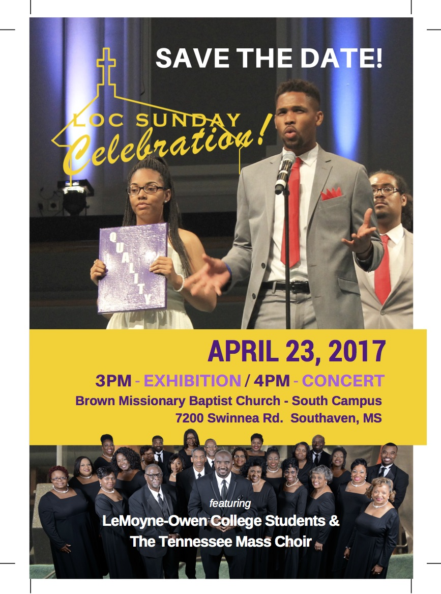 Tennessee Mass Choir/students to perform at LOC Sunday
